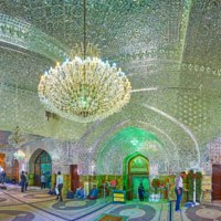 Иран. Тегеран. Мавзолей Имам-заде Салеха. Interior of Imamzadeh Saleh Holy Shrine, Tehran, Iran. Фото efesenko - Depositphotos