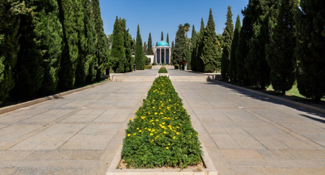 Иран. Шираз. Мавзолей Саади. Mausoleum of Persian poet Saadi in Shiraz. Iran. Фото By Diego Delso - www.commons.wikimedia.org