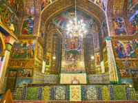 Иран. Исфахан. Ванкский собор. Magnificent altar of Holy Savior or Vank Cathedral attracts with patterns, paintings and decors in Isfahan. Фото efesenko-Deposit