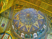 Иран. Исфахан. Ванкский собор. The dome of Vank Cathedral is covered with complex gilt stellar and floral patterns in Isfahan. Фото efesenko-Depositphotos