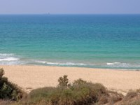 Клуб путешествий Павла Аксенова. Израиль. Ашкелон. Sandy beach of the Mediterranean Sea in Ashkelon National Park, Israel. Фото Gelia78-Depositphotos