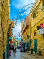 Израиль. Вифлеем. The Pope Paul IV is the main pedestrian street that connects Manger Square with local market, Bethlehem. Фото efesenko-Depositphotos