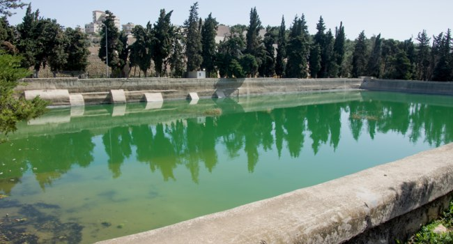 Израиль. Solomon's Pools at the outskirst of Bethlehem, west bank, israel. these pools are part of the ancient water system of Jerusalem. Фото asafeliason-Dep