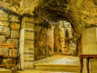 Израиль. Вифлеем. The chrypt in the cave under the Church of the Nativity is the holiest place in the city, Bethlehem. Фото efesenko-Depositphotos