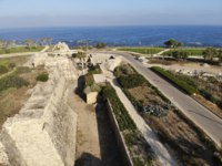 Израиль. Археологический парк Кесария. Fortress wall in National archaeological park of antiquities in the Caesarea. Israel. Фото Yosef_Er-Depositphotos