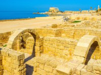 Израиль. Археологический парк Кесария. Caesarea Maritima the notable landmark and mandatory element tourist routes, Israel. Фото efesenko-Deposit