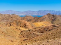 Израиль. Эйлат. The hiking to Masiv Eilat Nature Reserve is an interesting attraction and valuable experience, Israel. Фото efesenko - Depositphotos