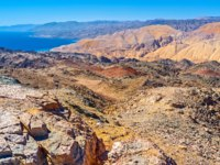 Израиль. Эйлат. Zefahot Mount is one of the best places to overlook Israel, Egypt, Jordan, Saudi Arabia from one peak, Eilat. Фото efesenko - Depositphotos