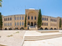 Израиль. Хайфа. The historic Technion building (now a national science museum), in Hadar HaCarmel neighborhood, Haifa, Israel. Фото RnDmS-Depositphotos