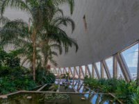 Израиль. Хайфа. Interior view of a Cooling tower in Haifa Oil Refinery compound, now a visitor center, in Haifa, Israel. Фото RnDmS-Depositphotos
