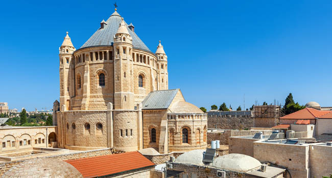 Клуб Павла Аксенова. Израиль. Иерусалим. Монастырь Успения Богоматери. Dormition Abbey. Jerusalem. Israel. Фото rglinsky - Depositphotos