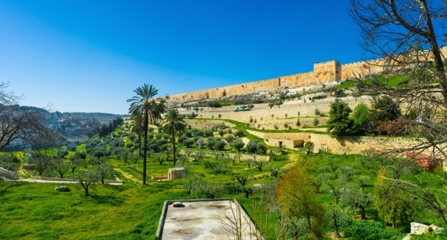 Израиль. Иерусалим. The Kidron Valley separates the Temple Mount from the Mount of Olives and contains many ancient tombs, Jerusalem, Israel. Фото efesenko-Dep
