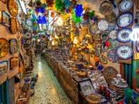 Израиль. Иерусалим. Market in Old City of Jerusalem, Israel. Фото rglinsky - Depositphotos