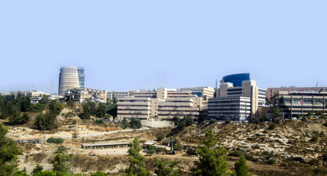 Израиль. Иерусалим. Panorama of modern Jerusalem, Israel. Business and residential buildings, urban landscape. Фото maxterdesign-Depositphotos