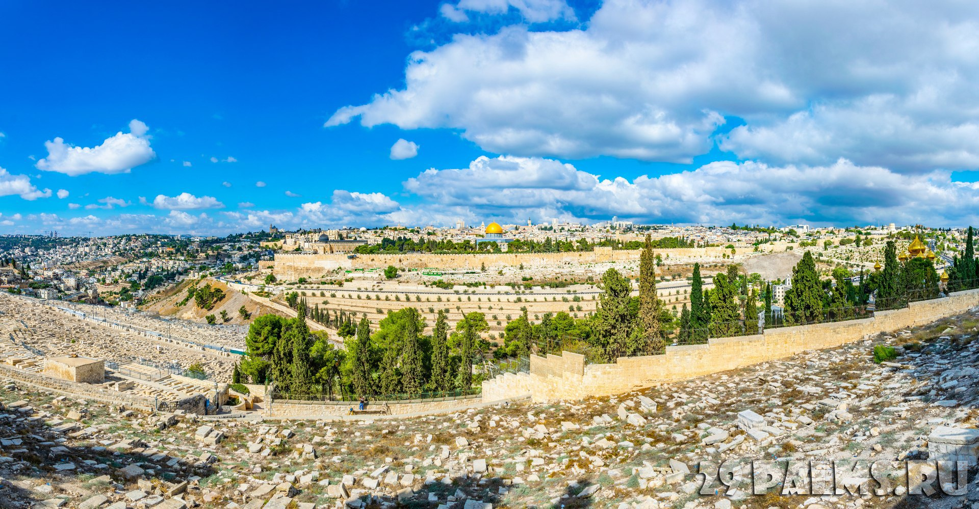 Клуб путешествий Павла Аксенова. Израиль. Панорама Иерусалима. Jerusalem viewed from the mount of olives, Israel. Фото Dudlajzov - Depositphotos