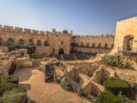 Израиль. Башня Давида в Иерусалиме. Panoramic view of the Tower of David fortress in the old City of Jerusalem, Israel. Фото RPBMedia - Depositphotos