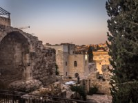 Израиль. Башня Давида в Иерусалиме. Ruins of ancient Jerusalem in the old City of Jerusalem, Israel. Фото RPBMedia - Depositphotos