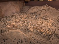 Израиль. Башня Давида. Miniature of the ancient city of Jerusalem in the Museum of the Tower od David in the Old City of Jerusalem, Israel. Фото RPBMedia-Deposit