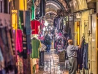 Израиль. Иерусалим. Commerce and merchants in the Muslim quarter of the old City of Jerusalem, Israel. Фото RPBMedia - Depositphotos