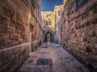 Израиль. Иерусалим. Старый город. Corridor in the Muslim quarter of the old City of Jerusalem, Israel. Фото RPBMedia - Depositphotos