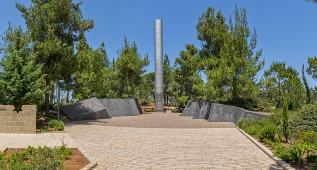 Daniel Nocerino Pillar of Heroism in Yad Vashem, Israels official memorial to the Jewish victims of the Holocaust, established in 1953. Фото dbajurin - Depositphotos