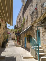 Израиль. Иерусалим. Старый город. Ancient streets and buildings in the old city of Jerusalem. Фото EnginKorkmaz - Depositphotos
