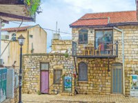 Клуб путешествий Павла Аксенова. Израиль. Цфат. The old stone cottage, located in the hilly street of old Safed, Israel. Фото efesenko-Depositphotos