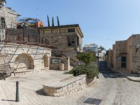 Израиль. Цфат. A quiet street in the early morning in the Jewish Quarter in the old town of Safed. Israel. Фото svarshik1.gmail.com-Depositphotos