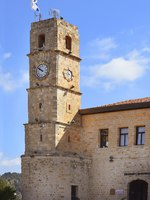 Израиль. Цфат. Seraya, old Ottoman fortress and clock tower, Safed, Upper Galilee, Israel. Фото irisphoto11-Depositphotos