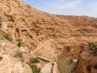 St. George Orthodox Monastery is located in Wadi Qelt. The sixth-century cliff-hanging complex, is still inhabited. Фото Jukov-Depositphotos