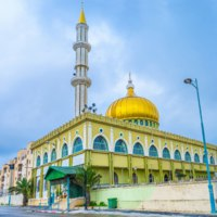 The beautiful Makam Al-Nabi Sain Mosque is a fine example of islamic architecture of XXI century, Nazareth, Israel. Фото efesenko-Depositphotos5