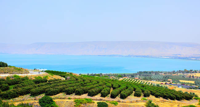 Клуб путешествий Павла Аксенова. Израиль. Галилея. Sea of Galilee (Lake Kinneret) and Golan Heights in the background. Israel. Фото Roman Sigaev-Depositphotos