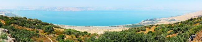 Клуб Павла Аксенова. Израиль. Галилея. Panorama of Kinneret entirely, top view (Mitzpe-le-Shalom on the Golan Heights). Фото Vladimir Blinov - Depositphotos