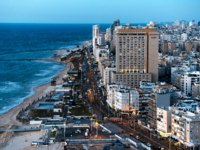 Израиль. Панорама Тель-Авива. Aerial view of the City of Tel Aviv, Israel. Фото izrus-Depositphotos