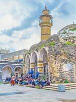 Израиль. Тверия. The dilapidated Great Al-Omari Mosque was built by Daher el-Omar in the Middle Ages, Tiberias, Israel. Фото efesenko - Depositphotos