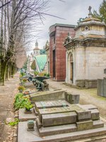 Италия. Монументальное кладбище Милана. View of tombs and graves inside of the Cimitero monumentale in Milano, Italy. Фото Dudlajzov-Depositphotos