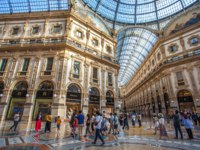 Италия. Милан. Галерея Виктора Эммануила II. Interior of the Vittorio Emanuele II Gallery, square Duomo, Milan. Italy. Фото samurkas - Depositphotos