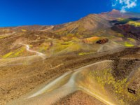 Италия. Сицилия. Катания. Colorful lava hills and volcanic craters. Mount Etna. Sicily, Italy. Фото RS.photography - Depositphotos