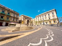 Италия. Сицилия. Катания. View on historic architecture in Catania, Italy. Фото Spectral - Depositphotos