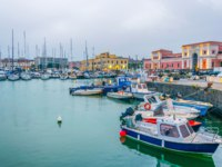Италия. Сицилия. Катания. View of the port of Catania, Sicily, Italy. Фото Dudlajzov - Depositphotos