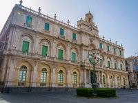 Италия. Сицилия. Катания. View of the Universita degli studi di catania building in Sicily, Italy. Фото Dudlajzov - Depositphotos
