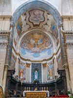 Италия. Сицилия. Катания. Main apse in the Duomo of Saint Agatha in Catania. Sicily, southern Italy. Фото e55evu - Depositphotos