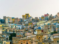 Италия. Сицилия. Рагуза. Aerial view of old town of the sicilian city Ragusa Ibla, Italy. Фото Dudlajzov - Depositphotos