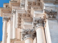 Италия. Сицилия. Рагуза. Architectural baroque elements of Saint George church in Ragusa Ibla. Фото siculodoc - Depositphotos