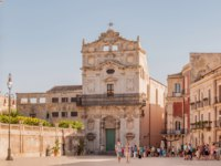 Италия. Сицилия. Сиракузы. Church of Saint Lucia in Siracuse, island of Ortigia, Sicily. Фото Alesinya - Depositphotos