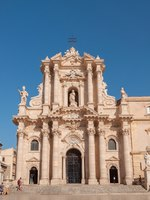 Италия. Сицилия. Сиракузы. View of the cathedral in Syracuse, Southern Sicily. Фото Alesinya - Depositphotos