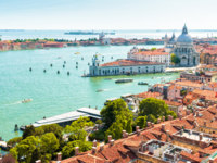 Клуб путешествий Павла Аксенова. Италия. Венеция. Гранд Канал. Aerial panoramic view of Venice, Italy. Фото scaliger - Depositphotos
