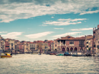 Клуб путешествий Павла Аксенова. Италия. Венеция. Гранд Канал. Panoramic view of the Grand Canal in Venice. Фото scaliger - Depositphotos