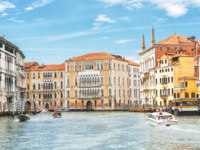 Клуб путешествий Павла Аксенова. Италия. Венеция. Гранд Канал. Panoramic view of Grand Canal, Venice, Italy. Фото scaliger - Depositphotos