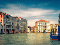 Клуб путешествий Павла Аксенова. Италия. Венеция. Гранд Канал. Traditional view of Grand Canal in Venice, Italy. Фото scaliger - Depositphotos